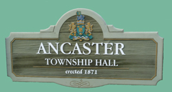 Ancaster Town Hall Sign